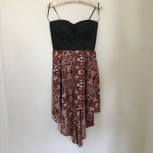 Strapless high low dress